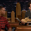 Victor Cruz Debuts The 'Haystack' Nike Air Cruz On The Tonight Show With Jimmy Fallon
