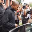 "Kanye West Unveiled A New ""Black/Red"" Adidas Yeezy Boost 350"