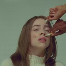 "Billie Eilish's Face Is An Ashtray In ""Xanny"" Video"