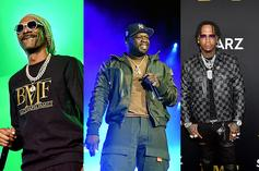 """50 Cent, Moneybagg Yo, & Snoop Dogg Unite For """"BMF"""" Theme Song"""
