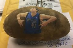 Who's Sending All These NBA Players Potatoes With Their Faces On It?