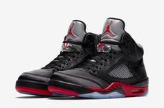 "Satin Air Jordan 5 ""Bred"" Slated To Release This Year"