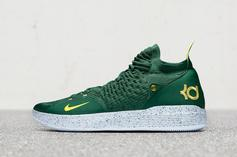 Kevin Durant Debuts Sonics-Inspired KD11 Ahead Of Seattle Preseason Game