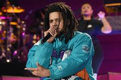 """J. Cole Performs """"Middle Child, """"A Lot"""" & More During 2019 NBA All-Star Game"""