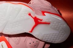 "Aleali May x Air Jordan 6 ""Millennial Pink"" Debuts This Friday: New Images"