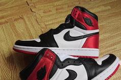 "Satin ""Black Toe"" Air Jordan 1 Releasing In August: New Images"