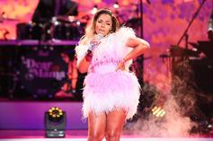Ashanti Uncovers Thirst-Triggering Thighs In Tiny Pink Bikini Poolside