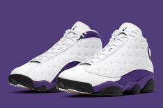 "Air Jordan 13 ""Lakers"" Colorway Drops Tomorrow: How To Cop"