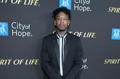 21 Savage Holds His Grammy Like A Menace In This Picture