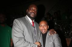 Shaq Celebrates Stephen A. Smith's Birthday By Roasting His Hairline