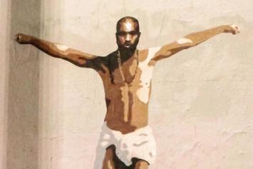 Mural Depicting Kanye West As Crucified Jesus Christ Is Spotted In L.A.