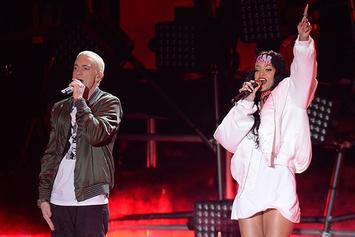 Eminem & Rihanna Do The ALS Ice Bucket Challenge On Stage In Detroit