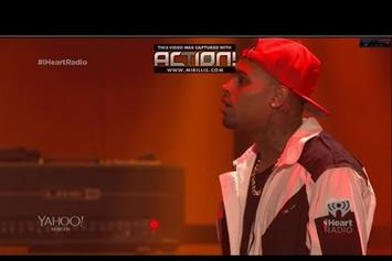 Usher Brings Chris Brown Out At iHeartRadio Festival 2014