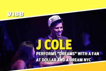 "J. Cole Performs ""Dreams"" With A Fan Live In NYC"