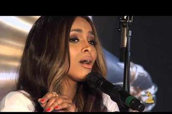 "Ciara Performs ""DUI"" At Grammy Headquarters"