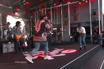 "ASAP Rocky & Schoolboy Q Perform ""Electric Body"" On Jimmy Kimmel Live"