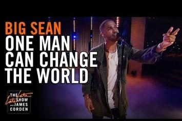 """Big Sean Performs """"One Man Can Change The World"""" On The Late Late Show With James Corden"""
