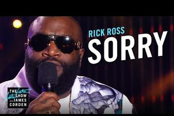 """Rick Ross Performs """"Sorry"""" On The Late Late Show"""