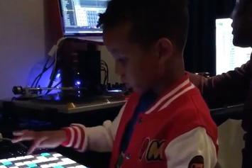 Watch Swizz Beatz 5-Year-Old Son Egypt Make Beats With Q-Tip