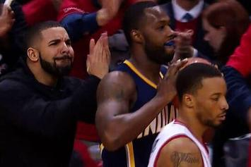 Drake Hilariously Taunts Pacers' Guard Rodney Stuckey During Raptors Game
