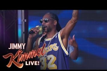 """Snoop Dogg Debuts New Song """"Fireworks"""" On Jimmy Kimmel"""