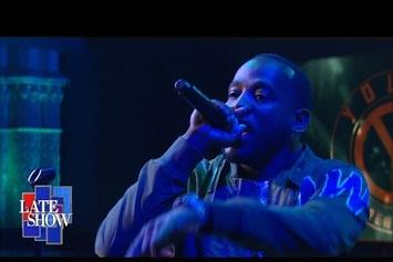 "Young Greatness Performs ""Moolah"" On Colbert"