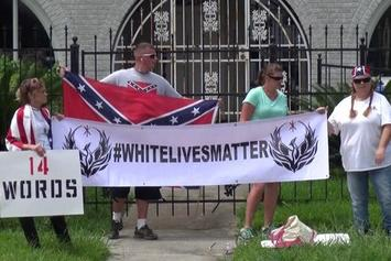 """White Lives Matter"" Protest Emerges Outside Of A Houston NAACP Office"