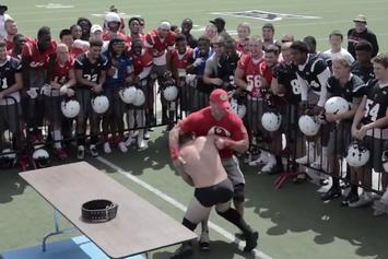 Texas Tech Coaches Set Up Hilarious WWE Match For Their Players