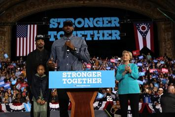 LeBron James, JR Smith Introduce Hillary Clinton At Ohio Rally