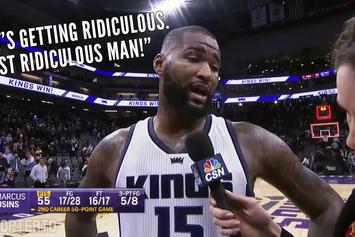 DeMarcus Cousins Trashes Refs, Blazers After Wild 55-Point Game