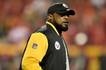 "Antonio Brown Videotapes Mike Tomlin Calling Patriots ""A**holes"" On Facebook Live"
