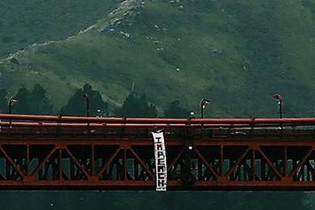 Hollyweed Prankster Hangs Anti-Trump Sign From The Golden Gate Bridge