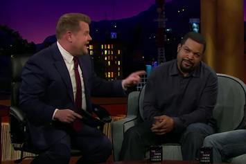"""Watch James Corden """"Destroy"""" Ice Cube In 1-On-1 Basketball"""