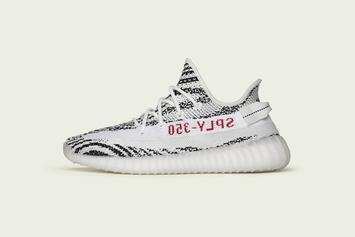 """Zebra"" Adidas Yeezy Boost 350 V2 Will Be Releasing Online Tomorrow"