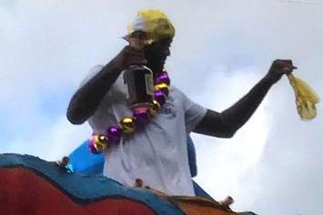 Watch DeMarcus Cousins Party With Panties On His Head At Mardi Gras Parade