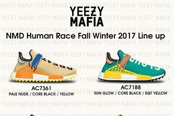 1495ae7faef63 Cheap UA NMD Human Race Pharrell FOG Black White Yellow Sale