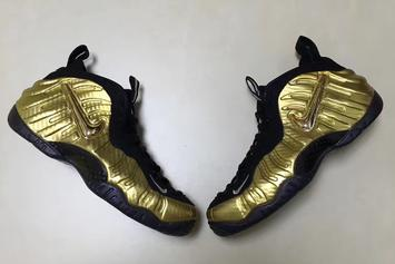 """Metallic Gold"" Nike Air Foamposite Pro First Images Revealed"