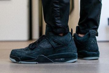 Black Colorway Of The KAWS x Air Jordan 4 Rumored To Release