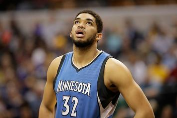Karl-Anthony Towns, D'Angelo Russell Team Up In Beach Volleyball