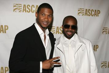 Usher And Jermaine Dupri Working In Studio