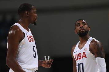 """Kevin Durant Says Kyrie Irving Is """"Courageous"""" For Requesting Trade"""