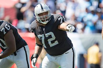 Raiders' Donald Penn Confronts Heckling Fan In Parking Lot After Loss