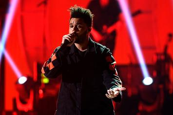 """The Weeknd Shows Off Record Breaking Plaques For """"Starboy"""""""