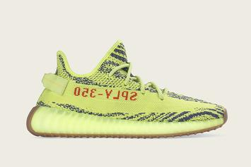 "Adidas Unveils ""Semi-Frozen Yellow"" Yeezy Boost 350 V2: Official Images"