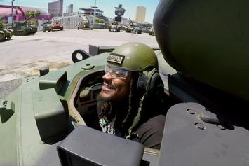 "Marshawn Lynch Drives A Tank, Blows Things Up On ""No Script"" Finale"