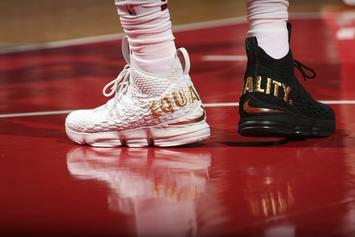 """LeBron James Takes Court In """"Equality"""" LeBron 15, Speaks On Trump"""