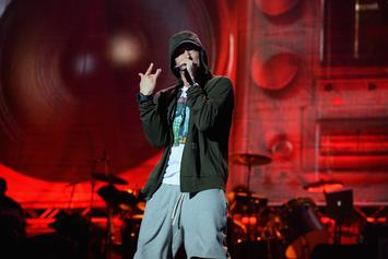 "Eminem Teases Upcoming Video For ""Walk On Water"""