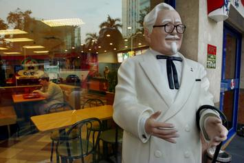 KFC Swaps Colonel Sanders With Wife Claudia For International Women's Day