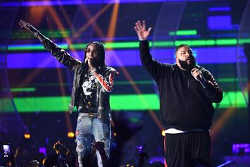 DJ Khaled Joins Quavo On A Yacht In Miami For His Birthday Celebration