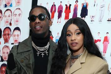 Offset Kisses Cardi B's Baby Bump At Billboard Latin Music Awards